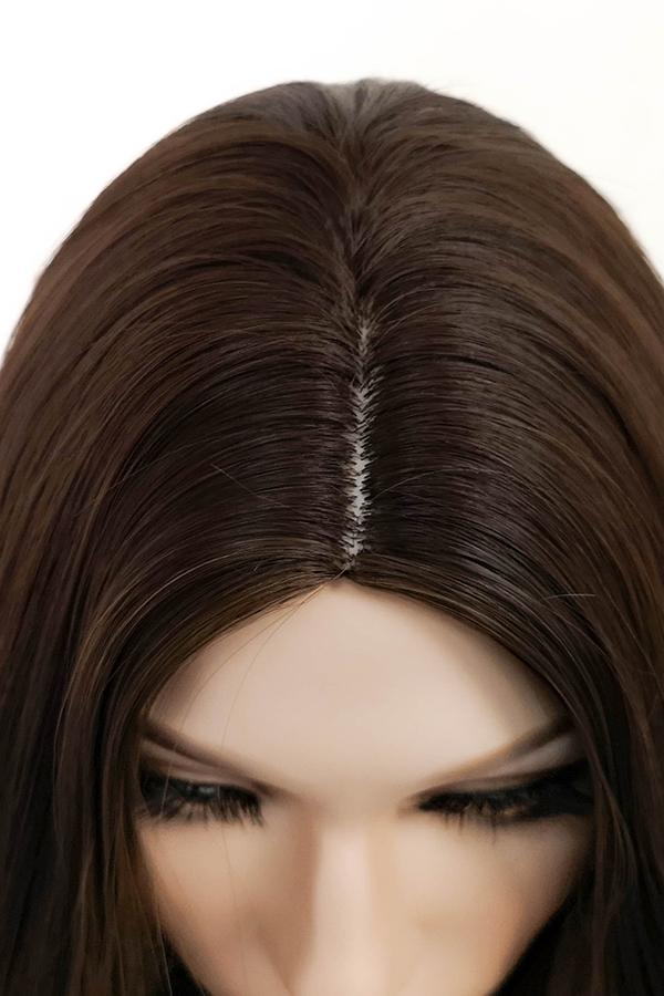 "26"" Two Tone Brown Fashion Synthetic Hair Wig 50237"