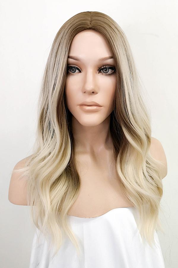 "20"" Brown Blonde Mixed Fashion Synthetic Hair Wig 50239"