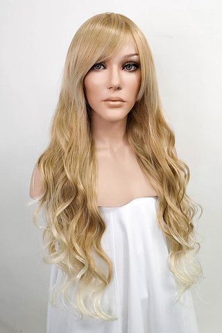 "10"" Mixed Dark Brown Lace Front Synthetic Wig 20242"