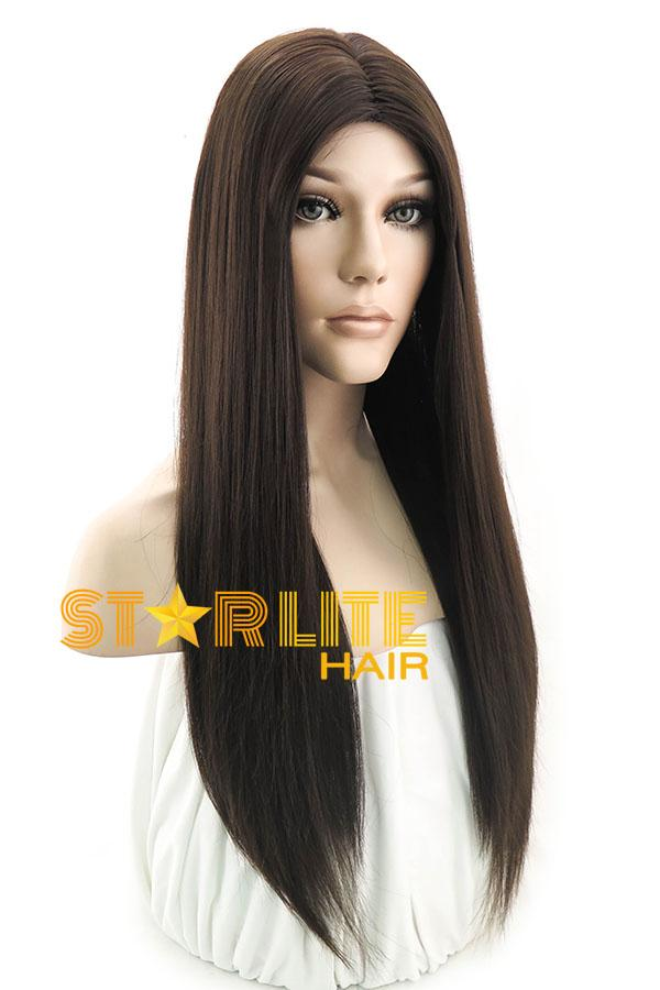 "24"" Dark Brown Fashion Synthetic Hair Wig 50013 - StarLite Hair"