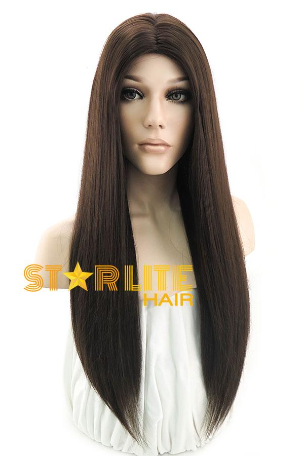 26\' Brunette Fashion Synthetic Hair Wig