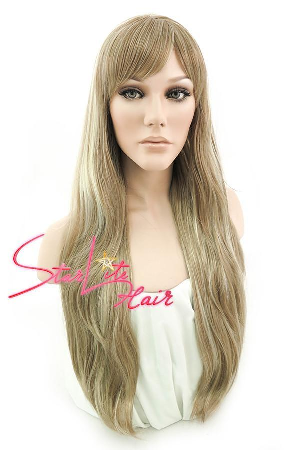 "28"" Blonde Mixed Brown Fashion Synthetic Wig 50003 - StarLite Hair"