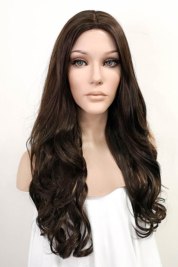 "26"" Brunette Fashion Synthetic Hair Wig 50015"