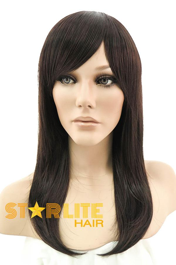 "15"" Dark Brown Fashion Synthetic Hair Wig 50005 - StarLite Hair"