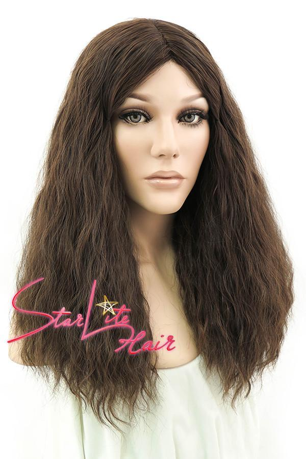 "18"" Mixed Dark Brown Fashion Synthetic Hair Wig 50008 - StarLite Hair"
