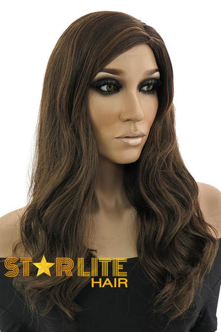 "18"" Mixed Brunette Fashion Synthetic Hair Wig 50008"