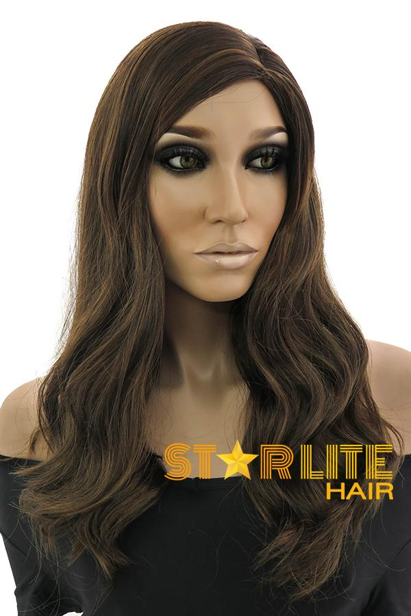 "20"" Mixed Brunette Fashion Synthetic Hair Wig 50176 - StarLite Hair"