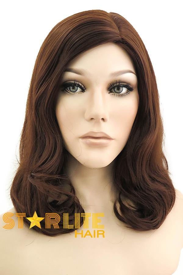 "18"" Brown Fashion Synthetic Hair Wig 50054 - StarLite Hair"