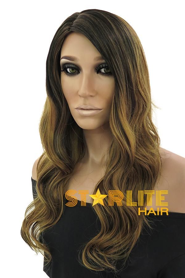 "23"" Mixed Blonde Dark Roots Fashion Synthetic Wig 50171 - StarLite Hair"