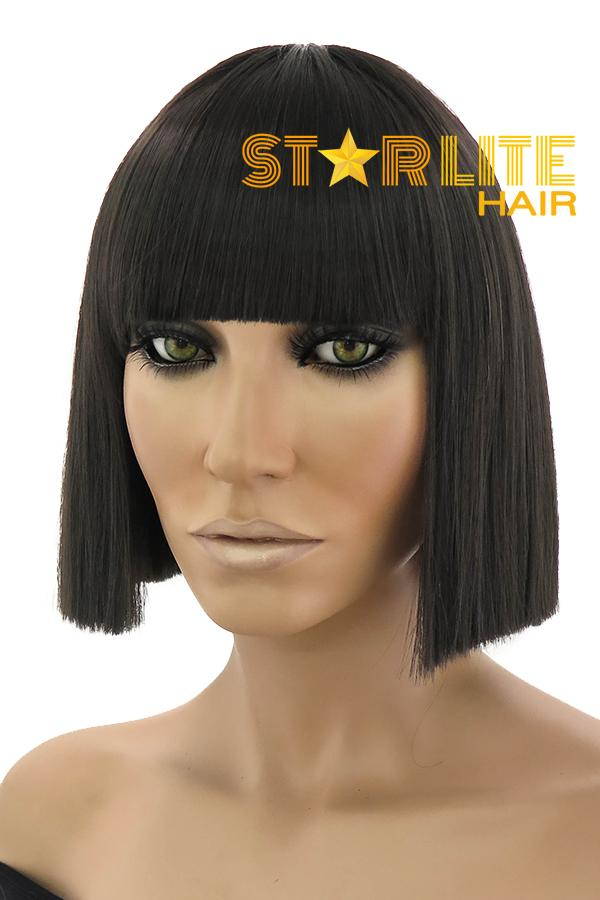 "11"" Black Fashion Synthetic Hair Wig 50160 - StarLite Hair"
