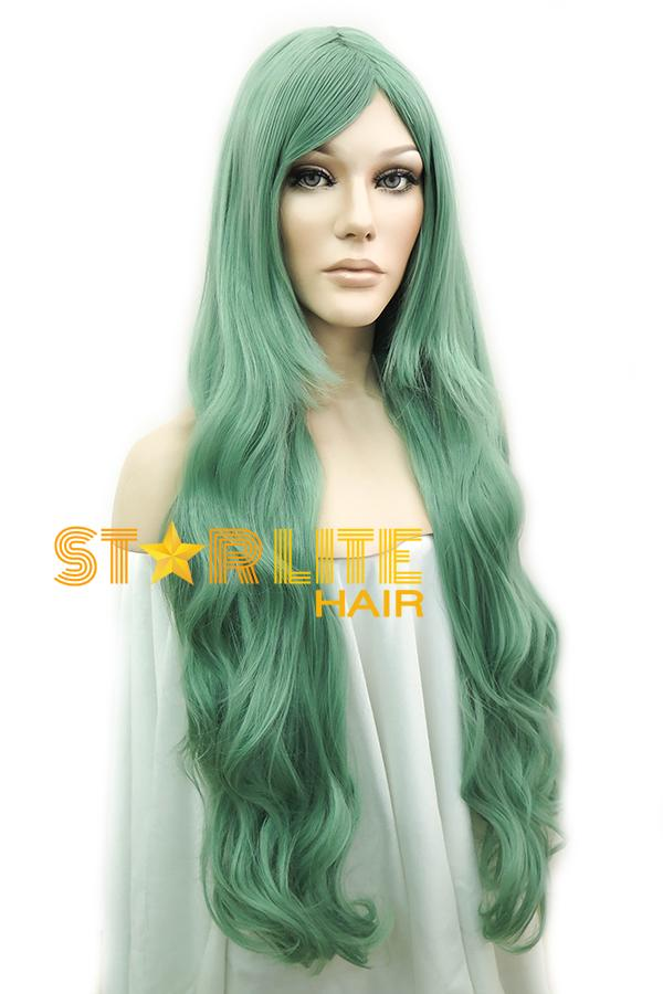 "31"" Green Fashion Synthetic Hair Wig 50096 - StarLite Hair"