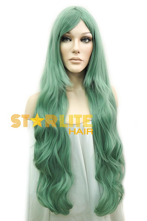 "31"" Green Fashion Synthetic Hair Wig 50096"