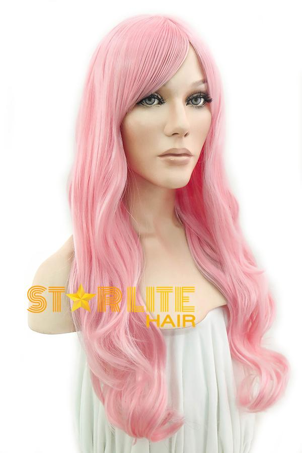 "28"" Pink Fashion Synthetic Hair Wig 50123 - StarLite Hair"
