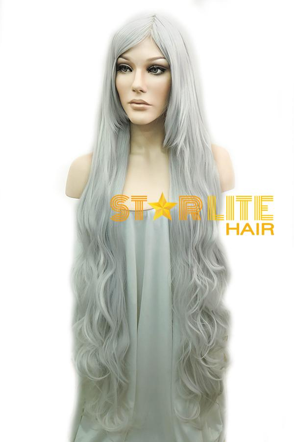 "39"" Silver White Fashion Synthetic Hair Wig 50217 - StarLite Hair"