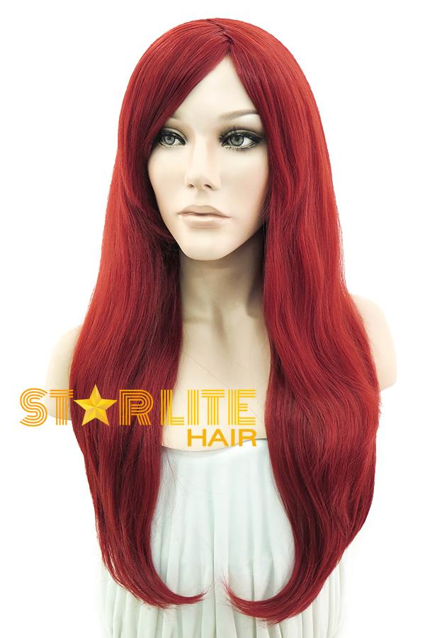 "24"" Red Fashion Synthetic Hair Wig 50145 - StarLite Hair"