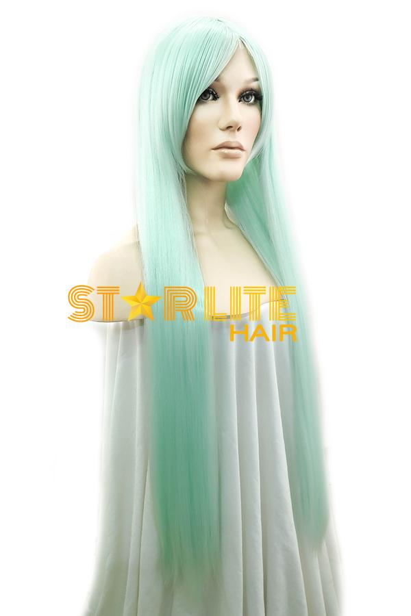 "31"" Mint Green Fashion Synthetic Hair Wig 50146 - StarLite Hair"