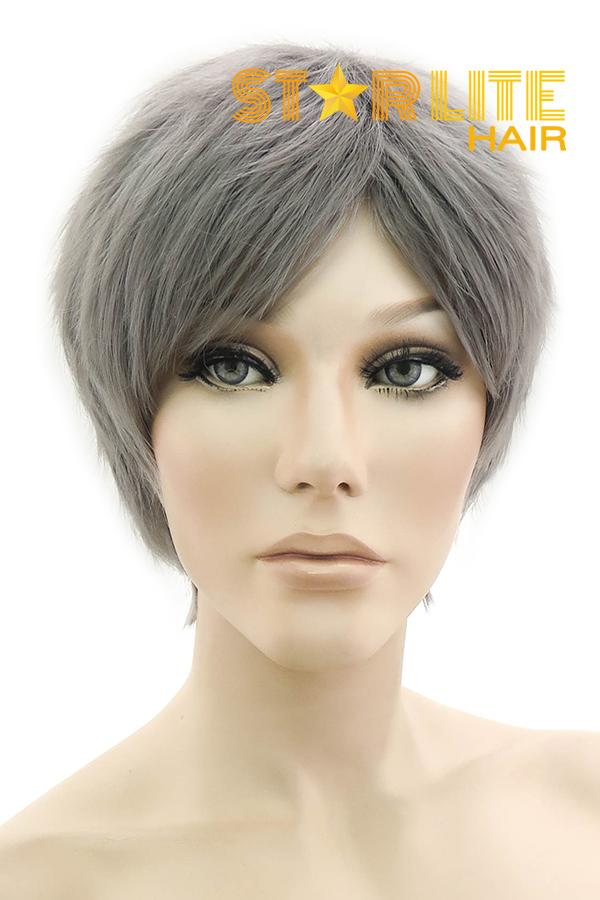 "9"" Grey Fashion Synthetic Hair Wig 50147 - StarLite Hair"