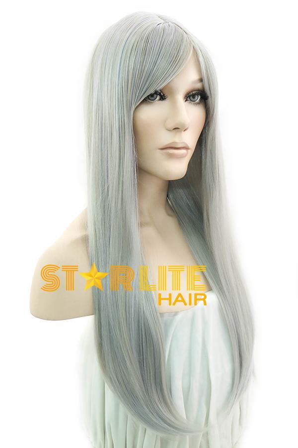 "22"" Grey Mixed Blonde Fashion Synthetic Wig 50131 - StarLite Hair"