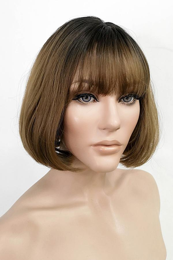 "10"" Brown With Dark Roots Fashion Synthetic Wig 50224 - StarLite Hair"