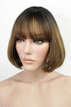 "10"" Brown With Dark Roots Fashion Synthetic Wig 50224"