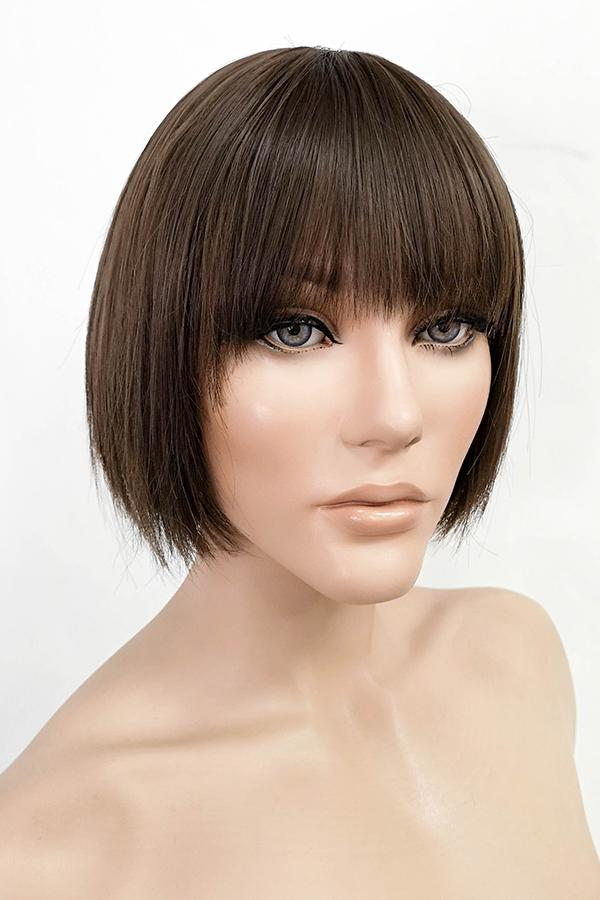 "9"" Brown Fashion Synthetic Hair Wig 50225 - StarLite Hair"
