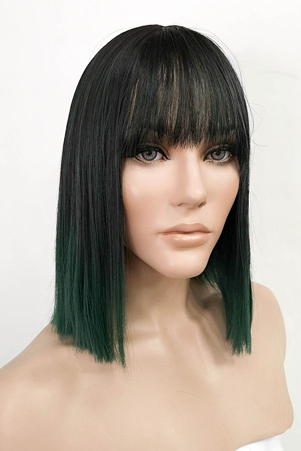 "13"" Black Dark Green Ombre Fashion Synthetic Wig 50226 - StarLite Hair"