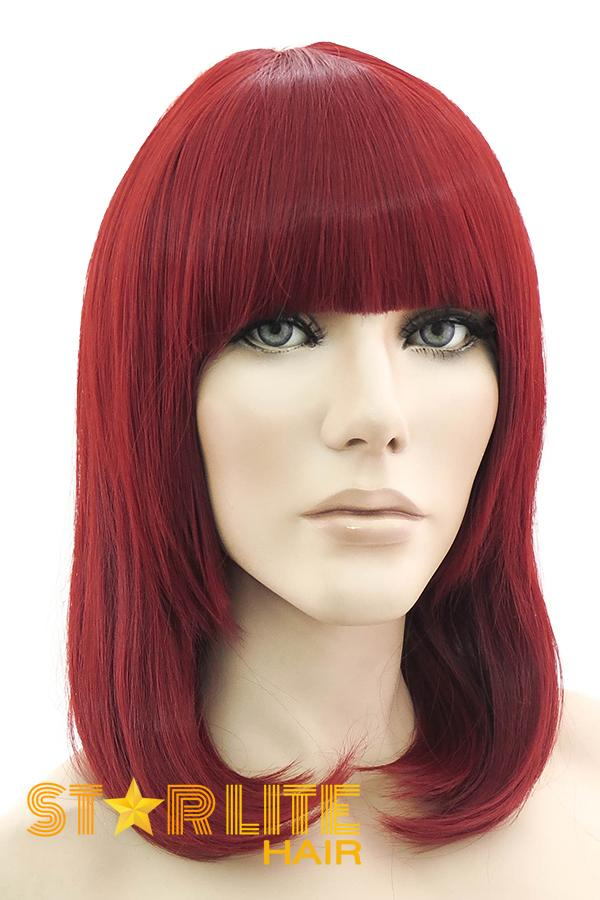 "16"" Red Fashion Synthetic Hair Wig 50179 - StarLite Hair"