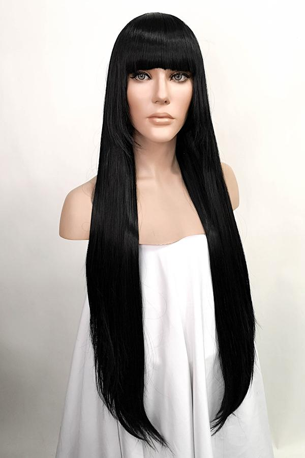 "32"" Jet Black Fashion Synthetic Hair Wig 50180"