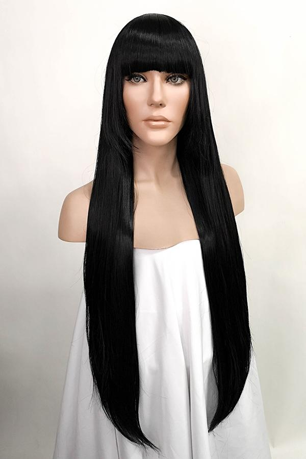 "32"" Jet Black Fashion Synthetic Hair Wig 50180 - StarLite Hair"