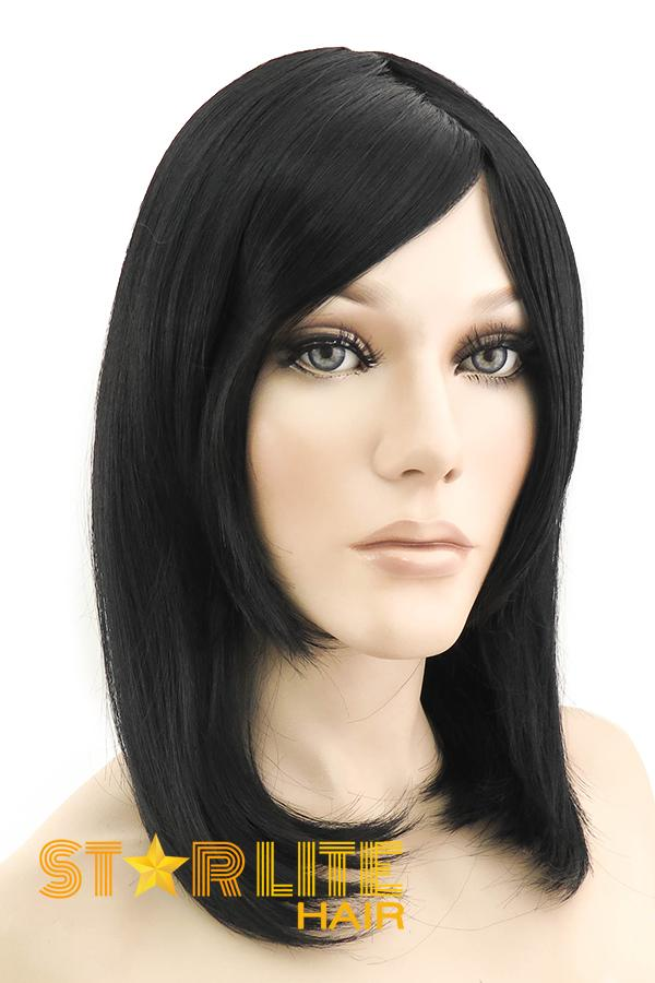 "16"" Jet Black Fashion Synthetic Hair Wig 50046 - StarLite Hair"