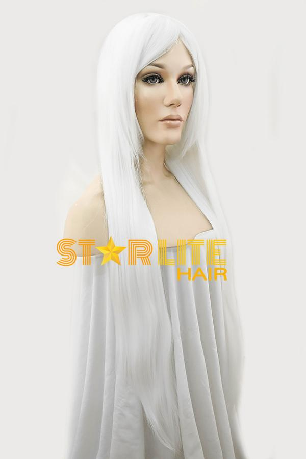 "32"" White Fashion Synthetic Hair Wig 50057 - StarLite Hair"