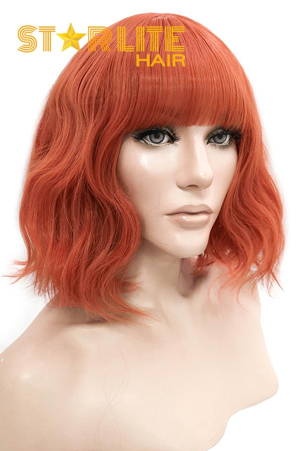 "12"" Orange Red Fashion Synthetic Hair Wig 50227 - StarLite Hair"