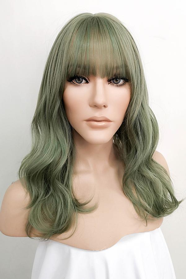 "18"" Ash Green Fashion Synthetic Hair Wig 50231 - StarLite Hair"