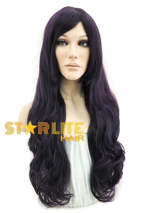 "28"" Dark Purple Fashion Synthetic Wig 50062 - StarLite Hair"