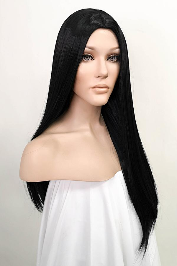 "25"" Black Fashion Synthetic Hair Wig 50202 - StarLite Hair"