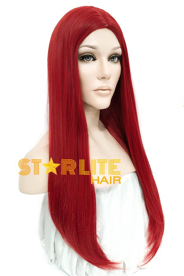 "25"" Red Fashion Synthetic Hair Wig 50203 - StarLite Hair"