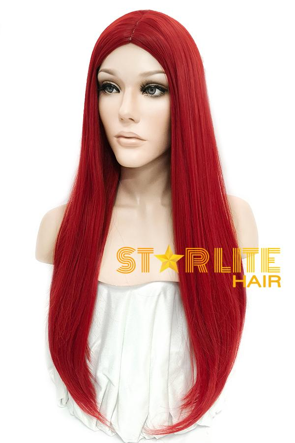 "24"" Red Fashion Synthetic Hair Wig 50203 - StarLite Hair"