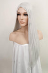 "25"" Silver Grey Fashion Synthetic Hair Wig 50186 - StarLite Hair"