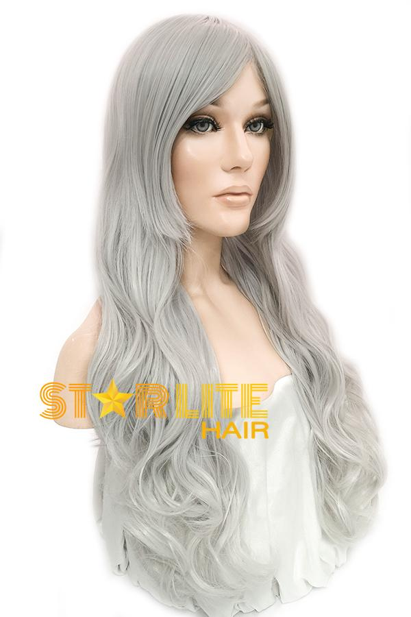 "25"" Silver White Fashion Synthetic Hair Wig 50204 - StarLite Hair"