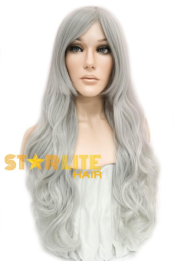 "31"" Silver White Fashion Synthetic Hair Wig 50204 - StarLite Hair"