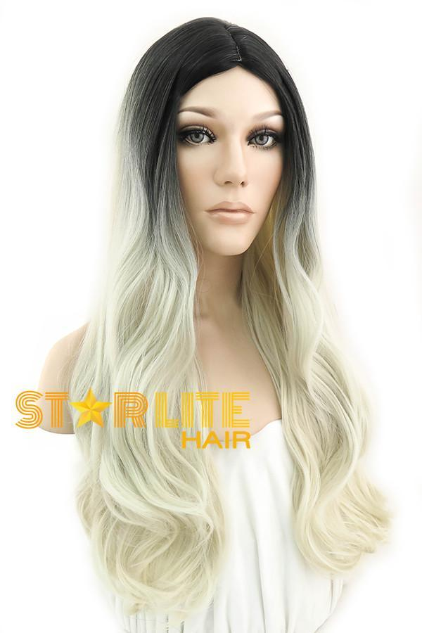 "26"" Black Mixed Light Blonde Fashion Wig 50049 - StarLite Hair"
