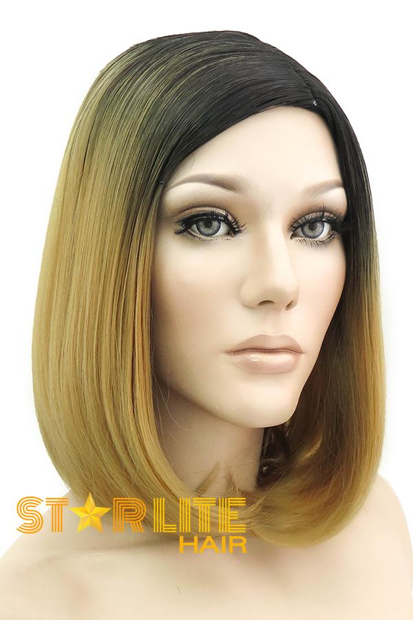 "14"" Medium Blonde Dark Roots Fashion Synthetic Wig 50165 - StarLite Hair"
