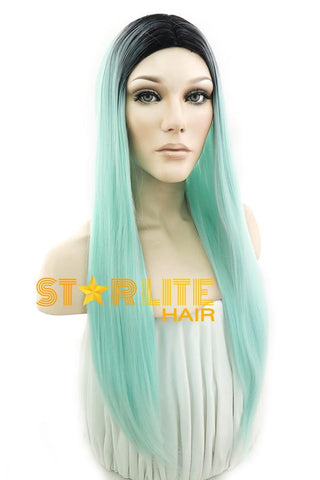 "25"" Silver Grey Fashion Synthetic Hair Wig 50187"