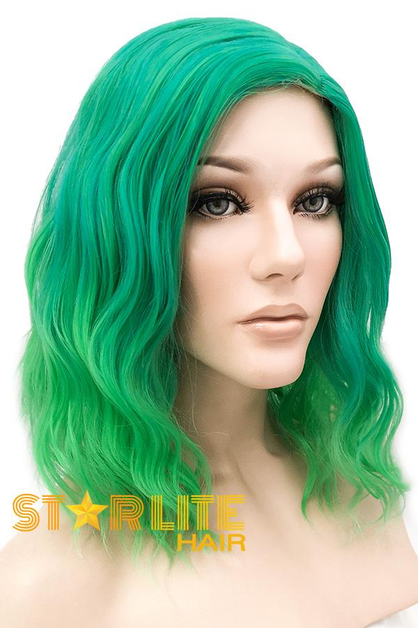"14"" Two Tone Green Fashion Synthetic Hair Wig 50207 - StarLite Hair"