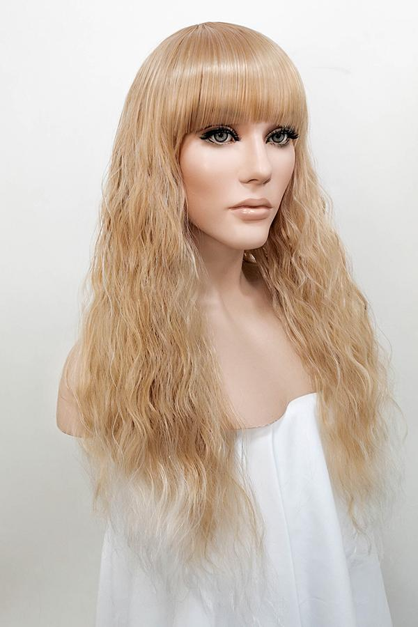 "26"" Blonde Mixed White Fashion Synthetic Hair Wig 50200"