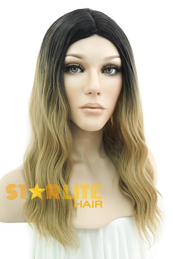 "20"" Blonde With Dark Roots Fashion Synthetic Wig 50081 - StarLite Hair"