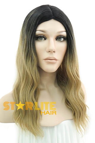 "16"" Light Blonde Dark Roots Lace Front Wig 20213"