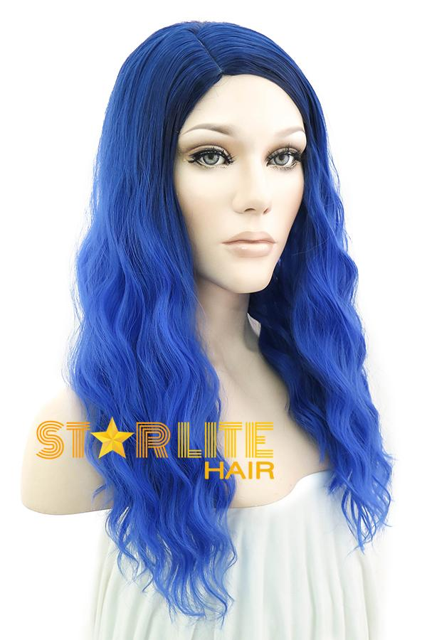 "21"" Blue Fashion Synthetic Hair Wig 50112 - StarLite Hair"