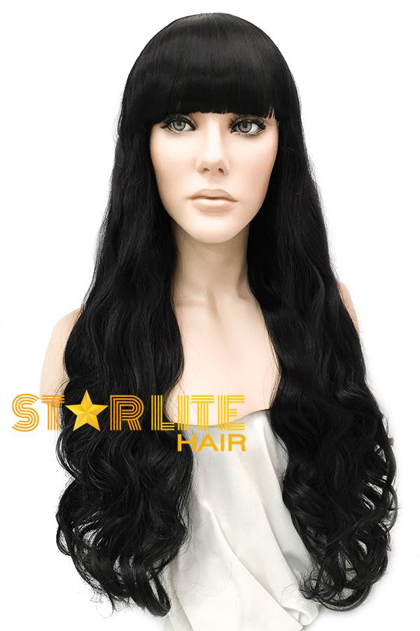 "27"" Black Fashion Synthetic Hair Wig 50211 - StarLite Hair"
