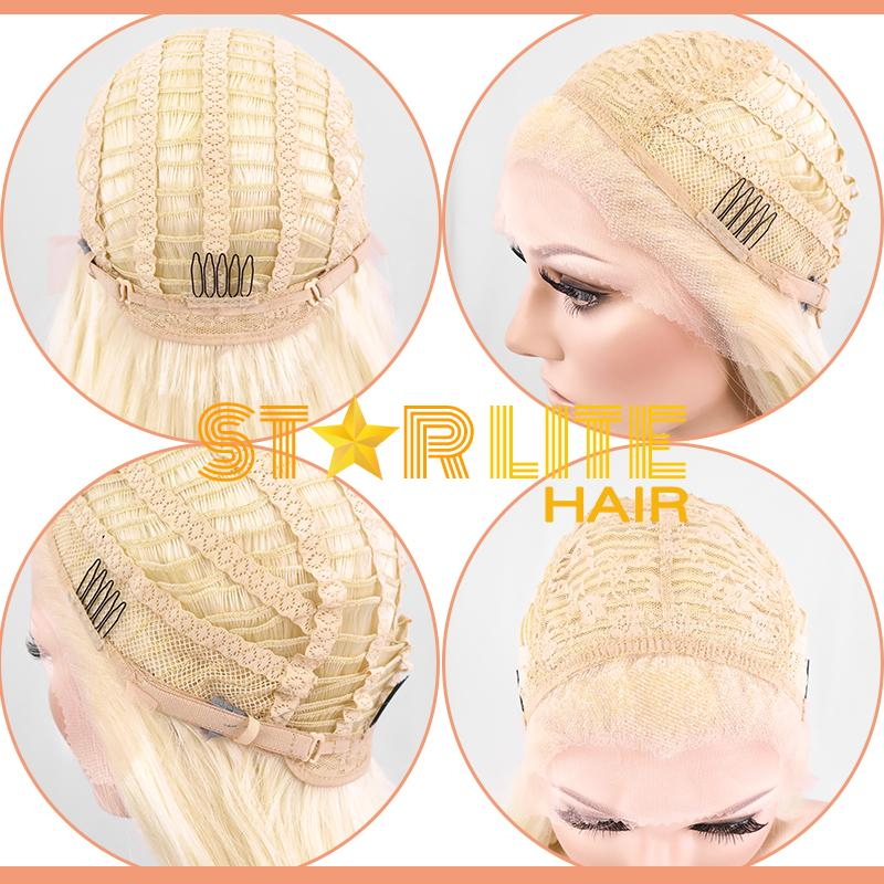 "24"" Light Green Dark Roots Lace Front Wig 20259 - StarLite Hair"